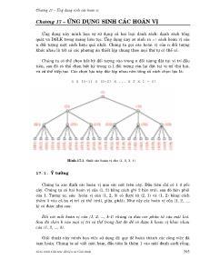 Giáo trình Cấu trúc dữ liệu và giải thuật - Chương 17: Ứng dụng sinh các hoán vị