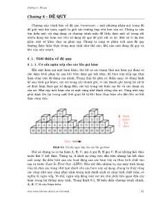 Giáo trình Cấu trúc dữ liệu và giải thuật - Chương 6: Đệ quy